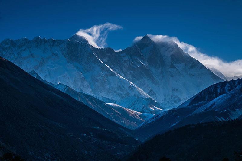 Primeras vistas del Everest
