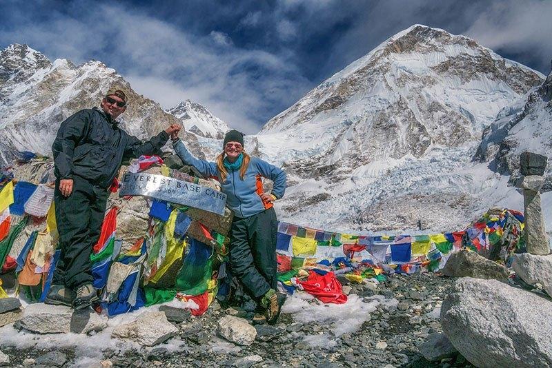 Llegamos al campo base del Everest