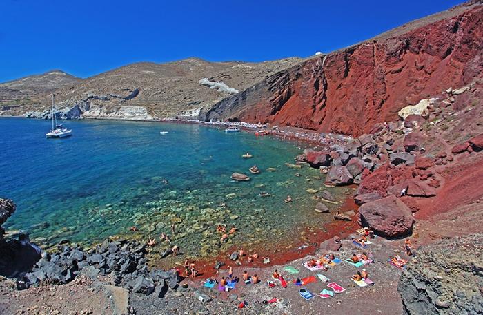 Playa de la isla griega de Santorini