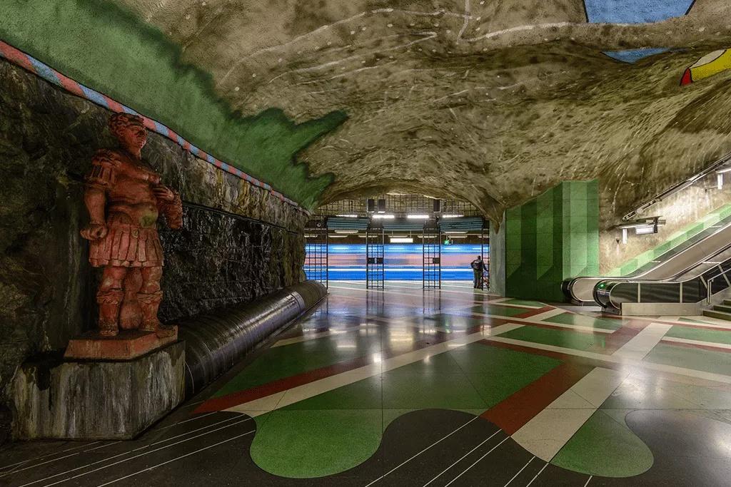 Estación del metro de Suecia
