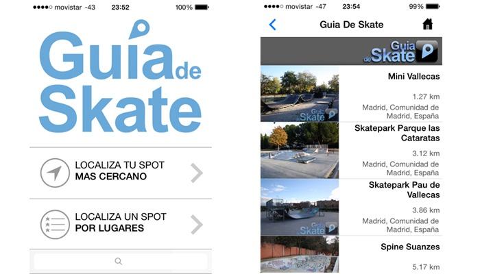 App de guía del skate