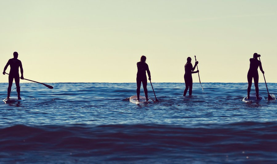 SUP en el mar