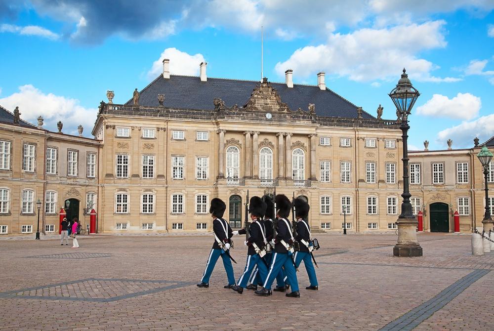 Castillo Amalienborg en Copenhague