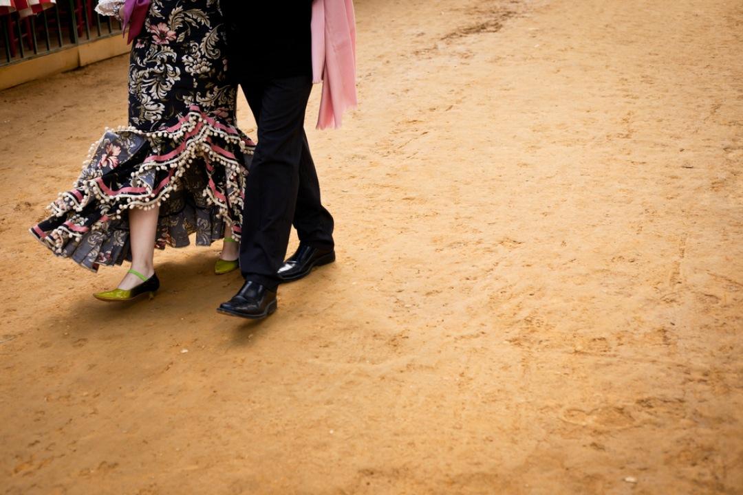 En las Ferias de Andalucía es común que el suelo sea de albero