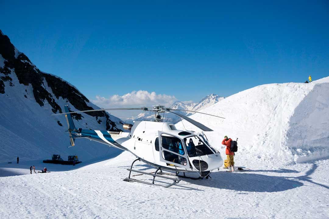 El heliesqui está cubierto en el seguro para deportes de nieve de InterMundial