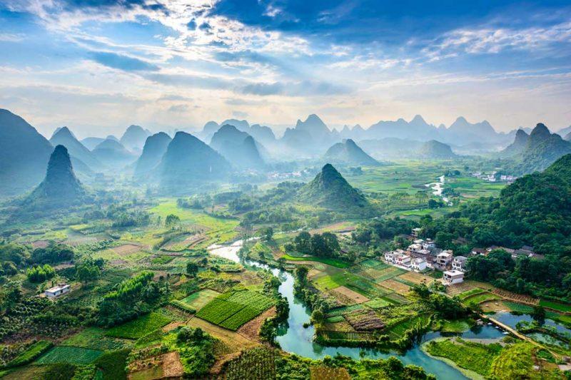 Los paisajes de China suelen acaparar las mejores fotos de viaje, como esta del Rio Li a su paso por Guilin