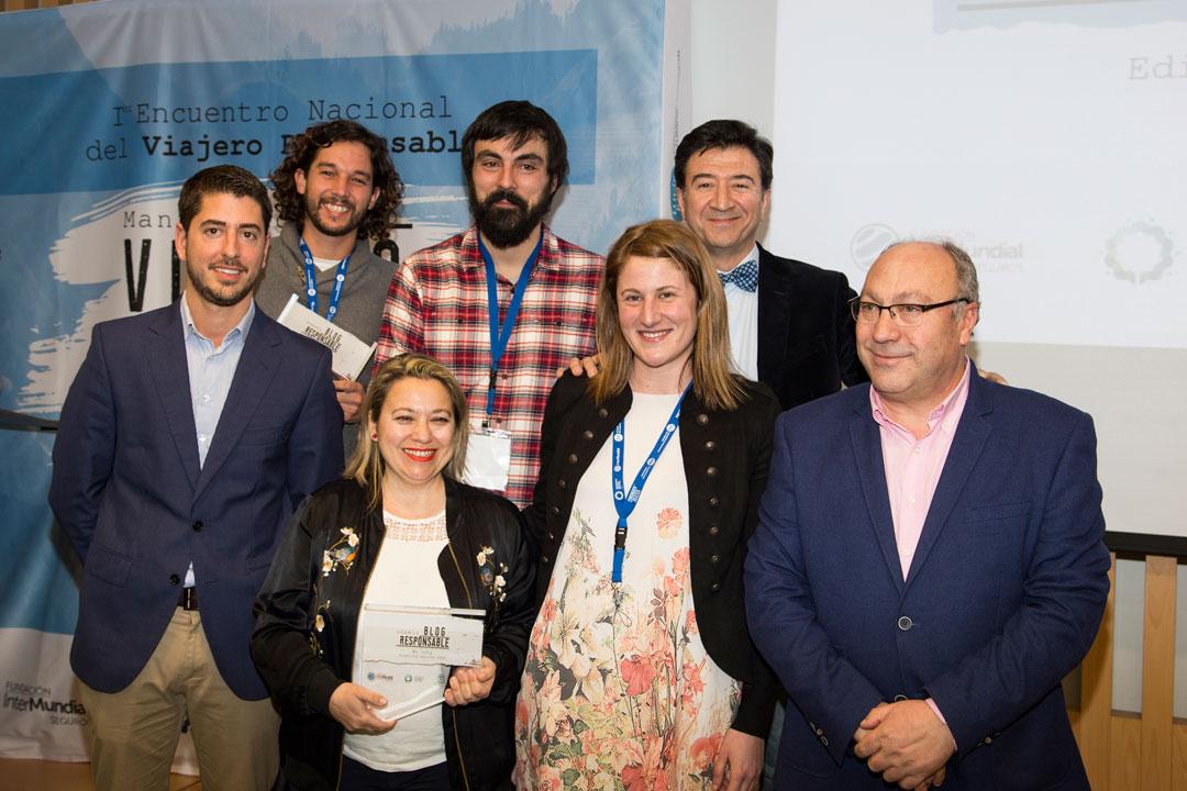 En la foto, además de los premiados, representantes de Diputación de León, Fundación InterMundial e ITR