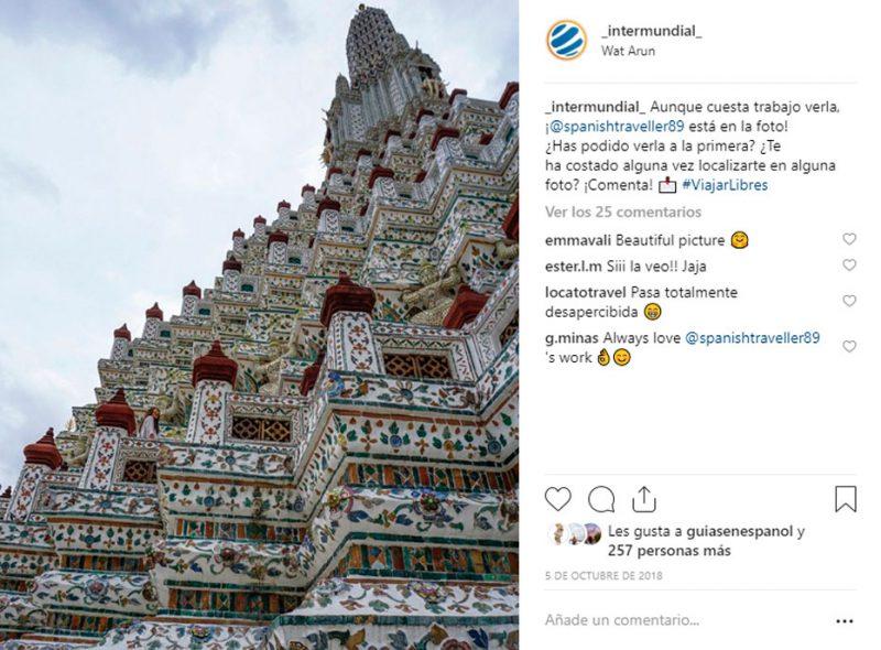 Mejores fotos de viaje Instagram Wat Arun
